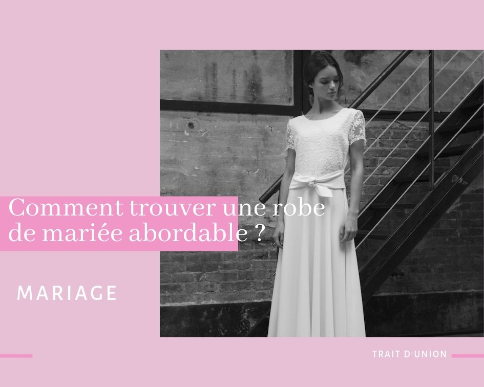 robe de mariée abordable