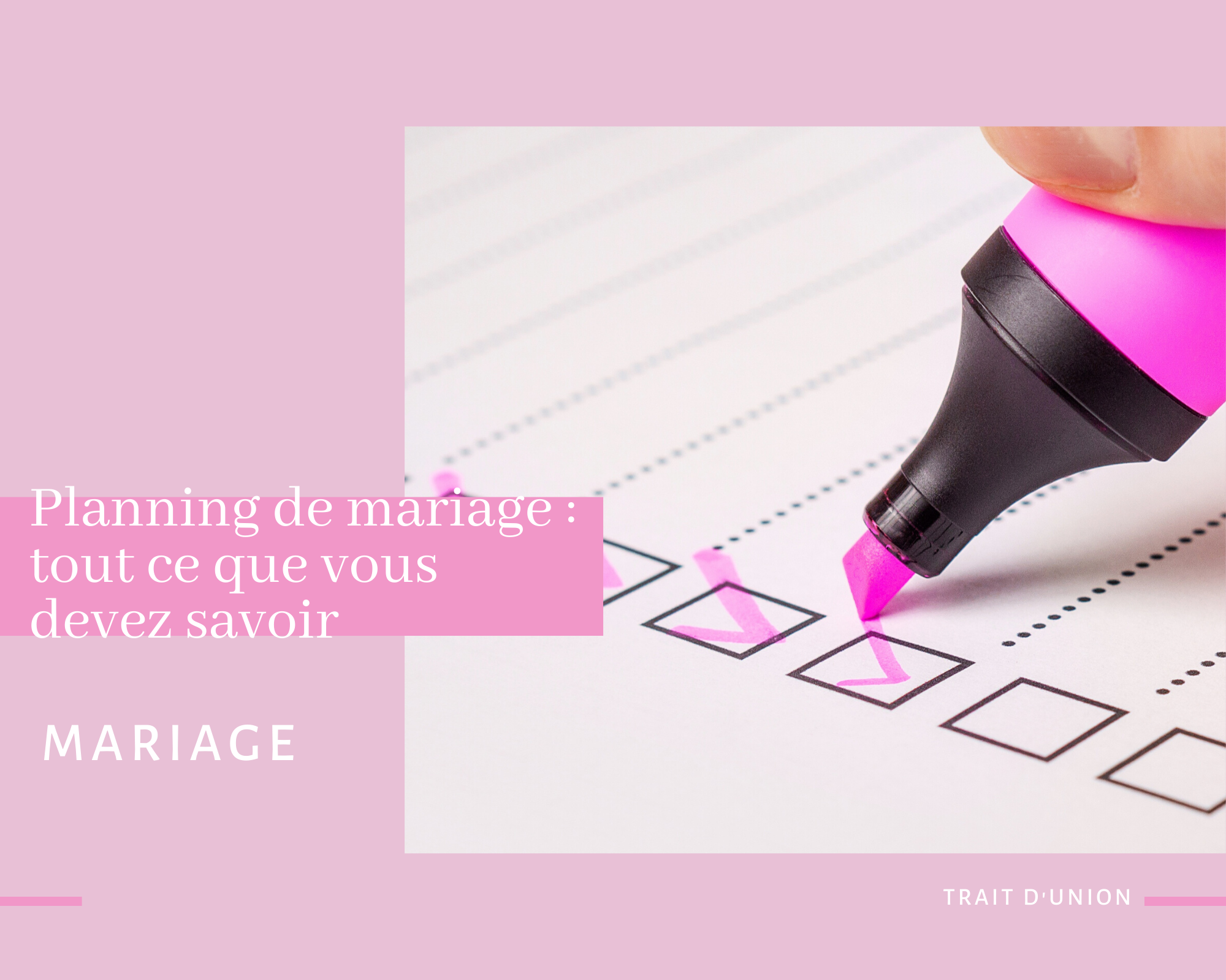 planning mariage